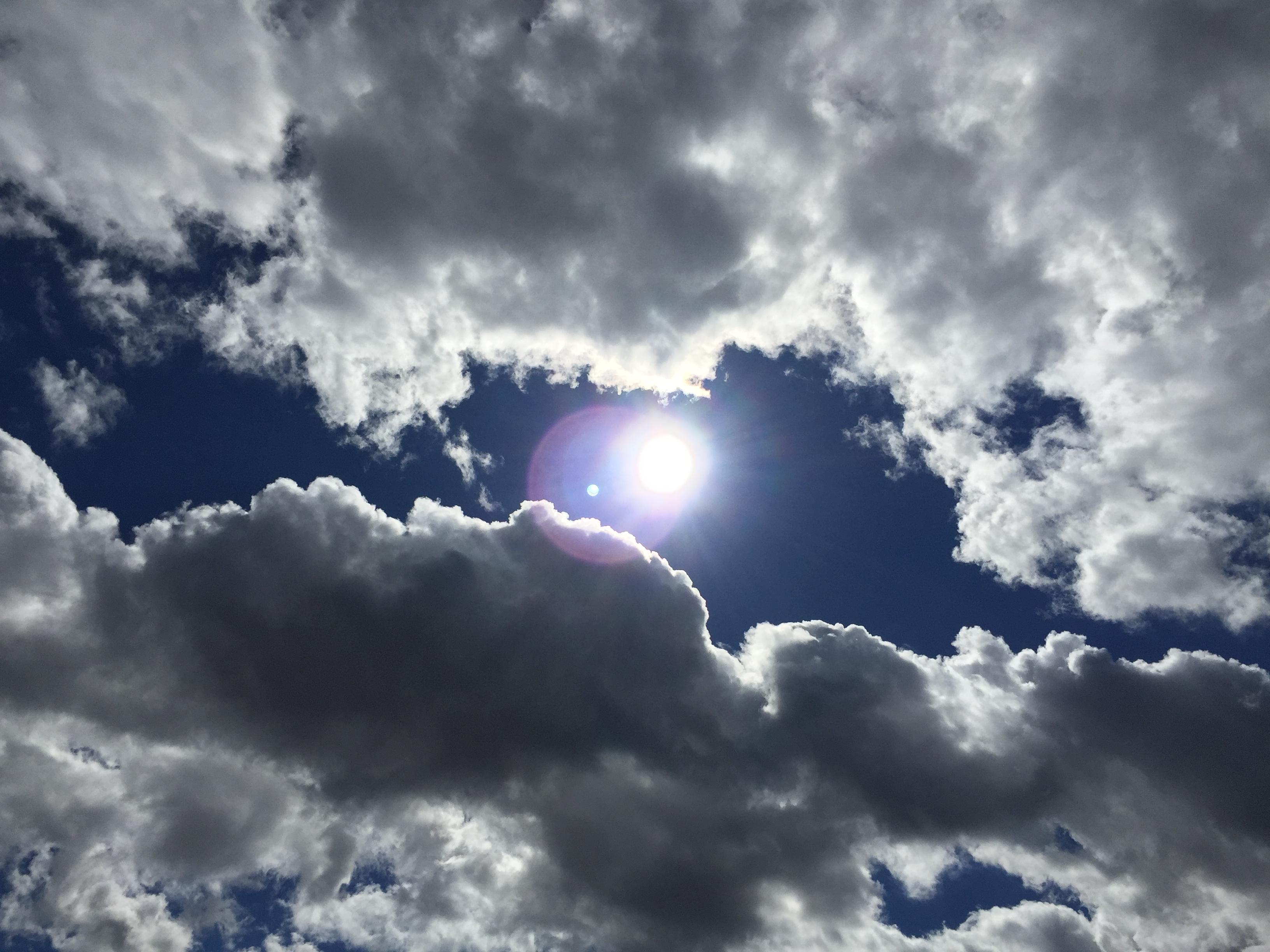 Sun Breaking Through Clouds San Antonio Texas
