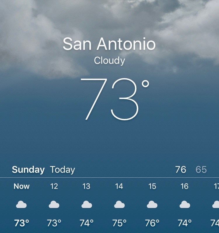 San Antonio Christmas Weather 2016